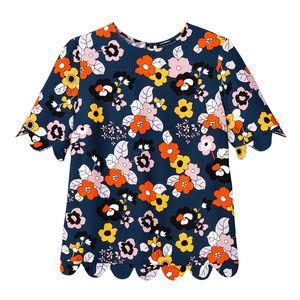 Victoria Beckham Target | Floral Scallop Top A7